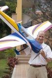Man and model aircraft Royalty Free Stock Image