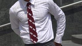 Man Modeling Business Attire stock video