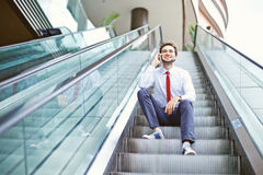 Man in the modern office Royalty Free Stock Photos