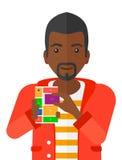 Man with modular phone Royalty Free Stock Image