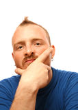 Man with mohawk stock photos