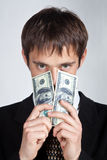 Man and money. Royalty Free Stock Image