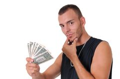 Man with money Royalty Free Stock Photography