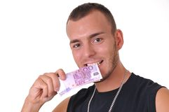 Man with money Stock Photo