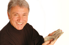 Man with money 163 Royalty Free Stock Image