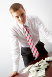 Man with money Royalty Free Stock Images