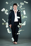 Man and money Stock Photo