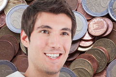 Man and money Royalty Free Stock Images
