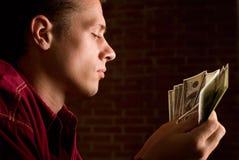 Man with money Stock Image