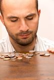 Man and money Royalty Free Stock Photography