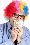Man with money Royalty Free Stock Photo