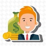Man money cash coins Stock Images
