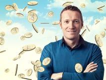 Man and money Stock Photo