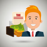 Man money currency tax Stock Photography