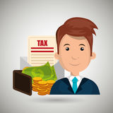 Man money currency tax Royalty Free Stock Photos