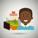 Man money currency tax Stock Images