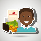 Man money currency tax Royalty Free Stock Photo