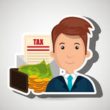 Man money currency tax Royalty Free Stock Images
