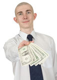 Man with money in a hand Stock Image