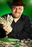 Man with money in hands.  Stock Image