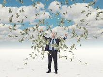 Man and money Royalty Free Stock Photos