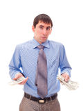 Man with money in his hand Stock Photos