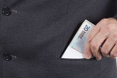Man With Money In His Pocket Royalty Free Stock Image
