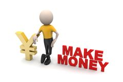 Man with money making concept Royalty Free Stock Image