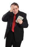Man with money problems Stock Images