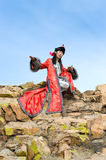 Man in Mongolian costume Royalty Free Stock Image