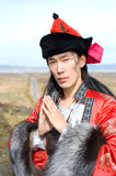 Man in Mongolian costume Royalty Free Stock Photography