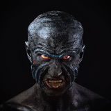 Man in monster makeup Royalty Free Stock Image