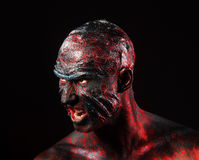 Man in monster makeup Royalty Free Stock Photo
