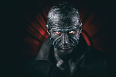 Man in monster makeup Royalty Free Stock Images