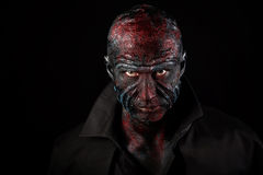 Man in monster makeup Stock Image