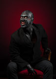 Man in monster makeup Stock Images