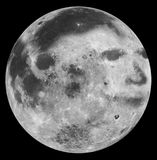 The Man in the Moon. Image of the man in the moon superimposed on a photo of the moon Royalty Free Stock Photography