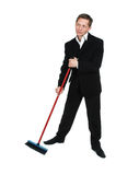 The man with a mop Royalty Free Stock Photos