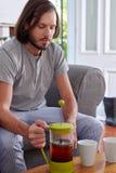 Man morning coffee Stock Photo