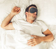 Man in the morning Royalty Free Stock Photo