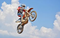Man On A Motocross Dirt Bike Royalty Free Stock Images