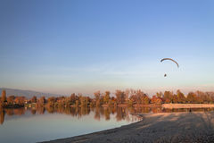 Man with motor paragliding Royalty Free Stock Photos