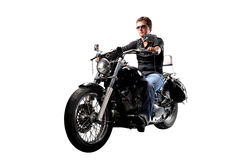 Man on Motorbike royalty free stock photography