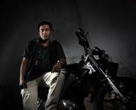 Man and motorcycle Royalty Free Stock Photos