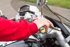Man on a motorcycle Royalty Free Stock Photography