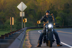 Man on motorcycle Royalty Free Stock Photo