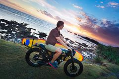Man on motorcycle Stock Images