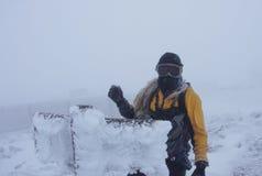 Man On Mount Washington Royalty Free Stock Photo