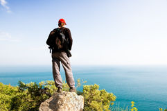 Man in mountain. Royalty Free Stock Photos