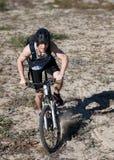 Man mountain bike Stock Photos